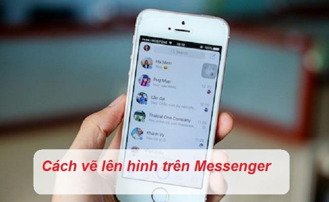 cach ve len hinh tren messenger