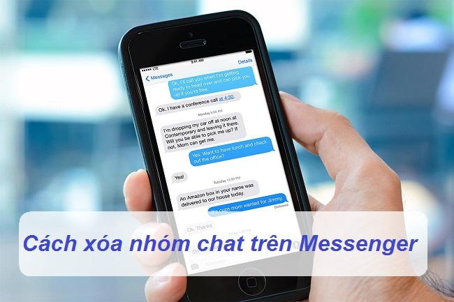cach xoa nhom chat tren messenger