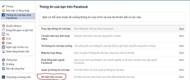 Hướng dẫn cách xóa vĩnh viễn tài khoản Facebook - ảnh 1